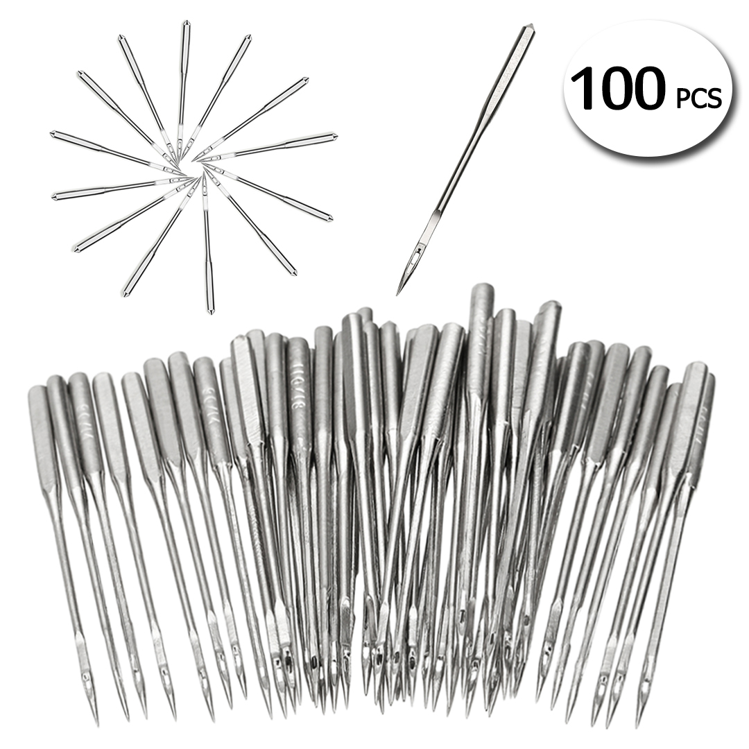 50 Piece High Quality Home Sewing Machine Needles Crafts 5 Size Handmade DIY Flat Sewing Machine Needle Assorted Kits