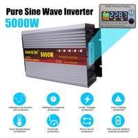 Интеллектуальный 5000 W Чистая синусоида Инвертор DC 12/24/48/60/72 V к AC 220 V 50Hz Мощность преобразователь ЖК дисплей Дисплей