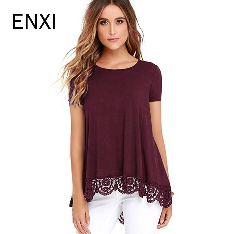 ENXI Summer Maternity T Shirt Women Tops For Maternity Sold Tops Sexy Women Tshirt O-Neck Maternity Tshirt