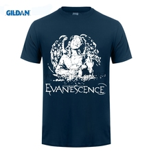 GILDAN designer t shirt Hsuail Mens Evanescence Angel Canvas Patch T-Shirt