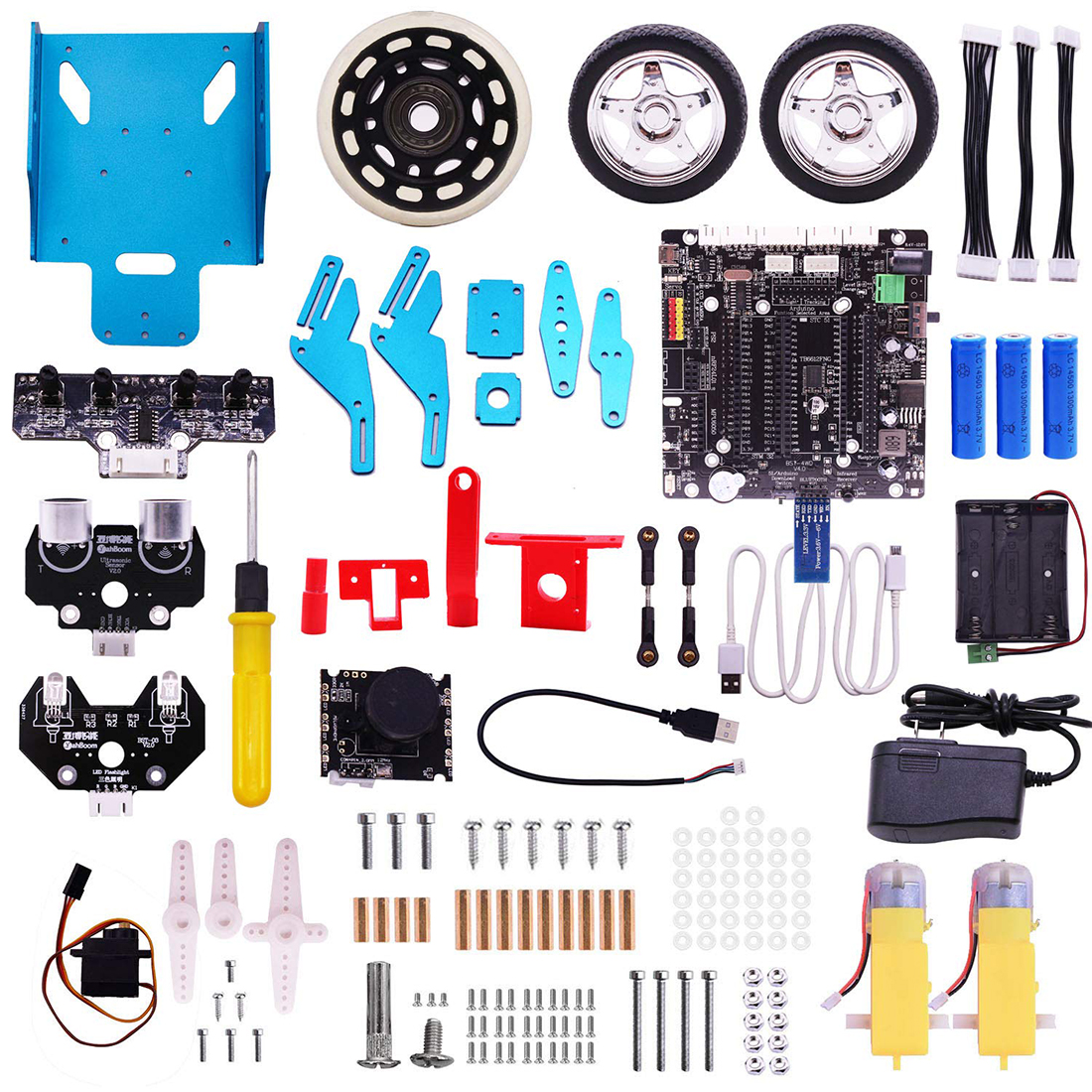 Raspberry Pi TrikeBot Smart Robot Car Kit Programmable Learning with HD Camera Video DIY Robot Model Building Block Kit 2019