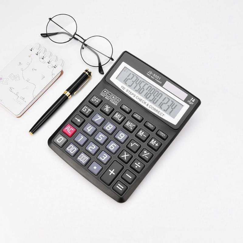 14 Digit Office Plastic Scientific Calculator Stationery Calculating Tax calculation Tool for Market/Store