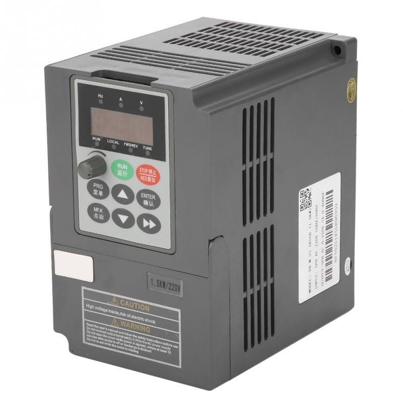 2HP Vector Type VFD Frequency Inverter Converter 1 Phase 220V to 3 Phase 0 220V 7A