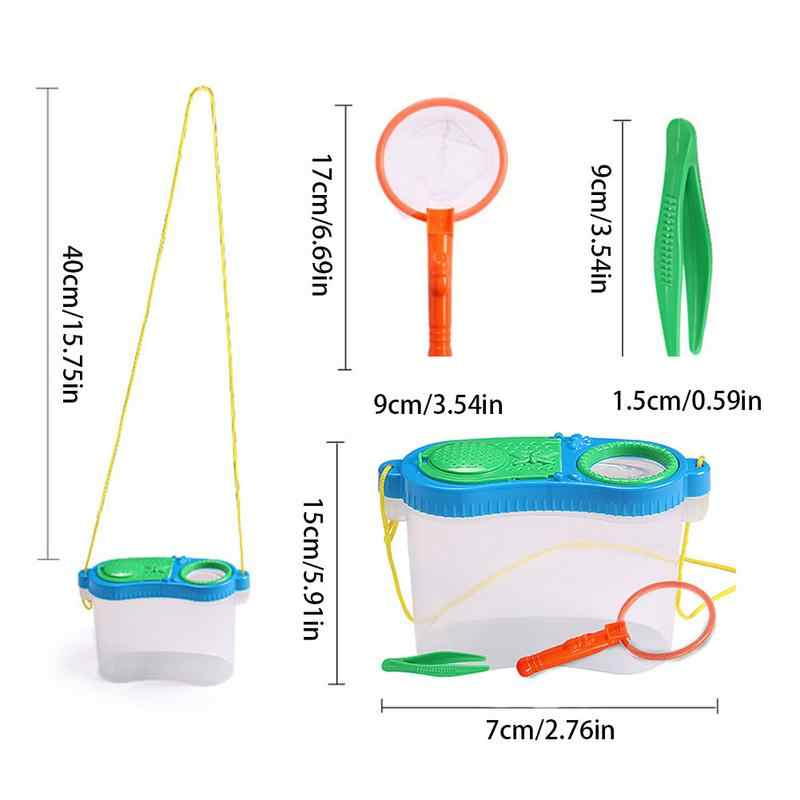 Children Education Toy Insect Feeding Experimental Observation Box Insect Research Plastic Tool Box Set