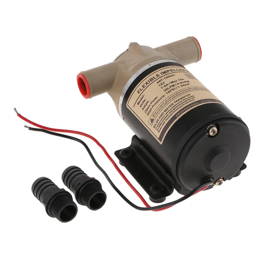 Pompe centrifuge de Surface électrique 30L/Min 12V pompe de refroidissement de moteur de lavage de plate-forme pompe à eau Flexible de turbine