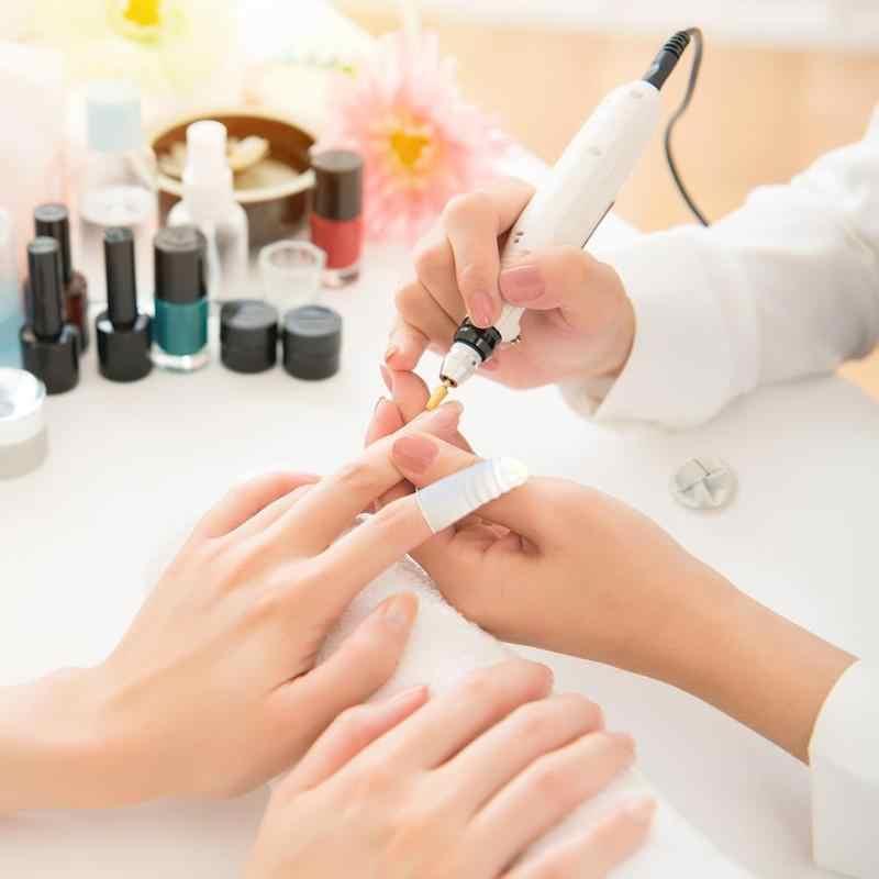 200 unids/bolsa de Arte de uñas, dedo cunas de protección para dedos cubierta de blanco pequeño guantes de goma Protector DIY manicura a