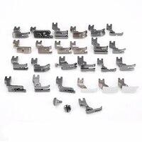 25pcs Sewing Machine Presser Foot Feet for UKI DDL 5550 8500 8700 Presser Feet Braiding Blind Stitch Darning Accessories