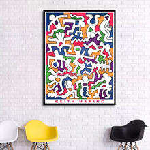 Keith HARING Pop Art Poster Painting Hand Painted Abstract Oil Wall Pictures For Home Decor Cuadros Decoracion Unframed