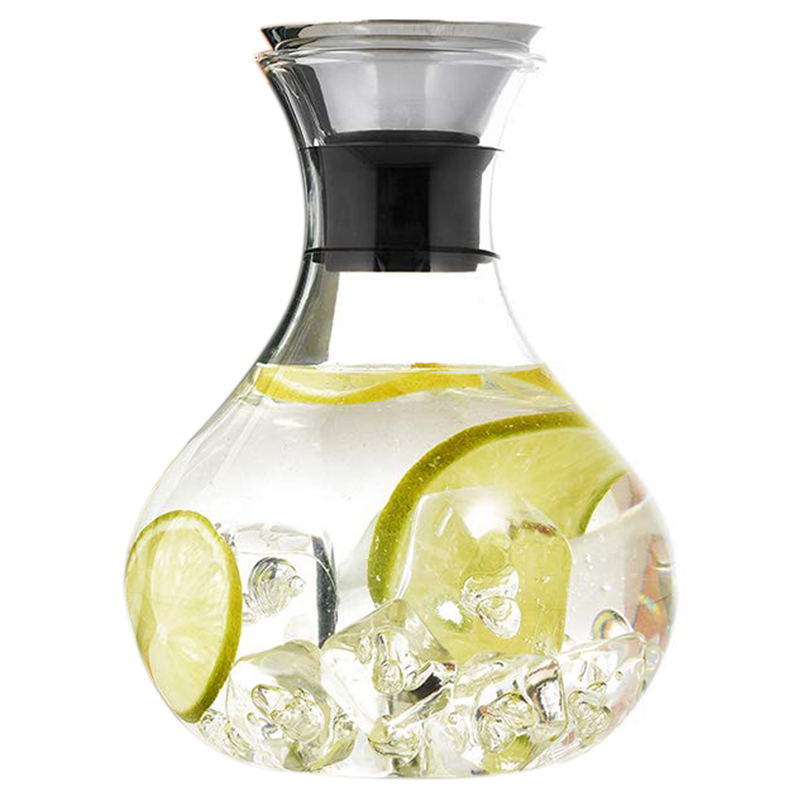 1.5L Glass Carafe With Stainless Steel  Lid  Water Carafe  Decanter  Free 21 Drink Gift Cards Glass Jug  Gifts  Water Jug. Teapots     - title=