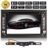 Автомобильный мультимедийный плеер 6,2 дюймов 2DIN dvd FM MP3 Радио Стерео bluetooth gps навигация камера заднего вида 12 в музыкальный плеер