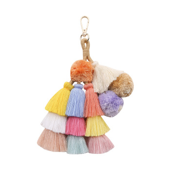 DIY Tassels Key Buckle Bohemia Second Tassels Accessories Spring And Summer Woman Bag Originality Tassels Pendant Pompom фото