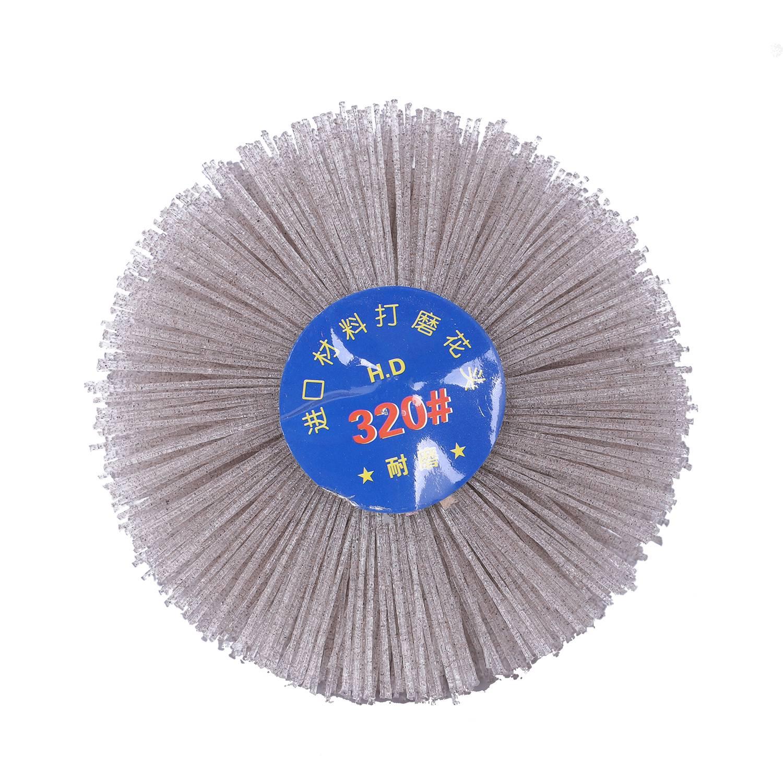 4 Pc 85*35*6mm Drill Abrasive Wire Grinding Wheel Nylon Bristle Polishing Brush