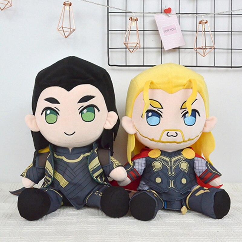 30 cm les vêtements Avengers enlèvent Thor Loki peluche animaux bébé jouets Thor doux en peluche jouets pour enfants cadeaux de noël