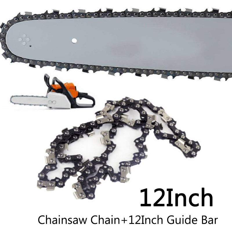 12 Inch 3/8''LP 44 Drive Links Saw Chain+Guide Plate For Stihl MS170 MS180 MS18  Chainsaw Chain Blade Wood Cutting Chainsaw Part