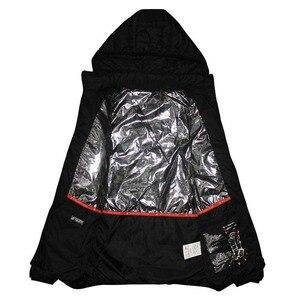 Image 4 - Mens Winter USB Heating Jacket Men Waterproof Reflective Hooded Coat Male Warm Parka Cotton Windbreaker Mens Rain Jackets