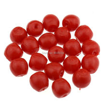 Gresorth 20 PCS Red Fake MINI Plastic Cherry Artificial Cherries DIY Decoration Material Accessories