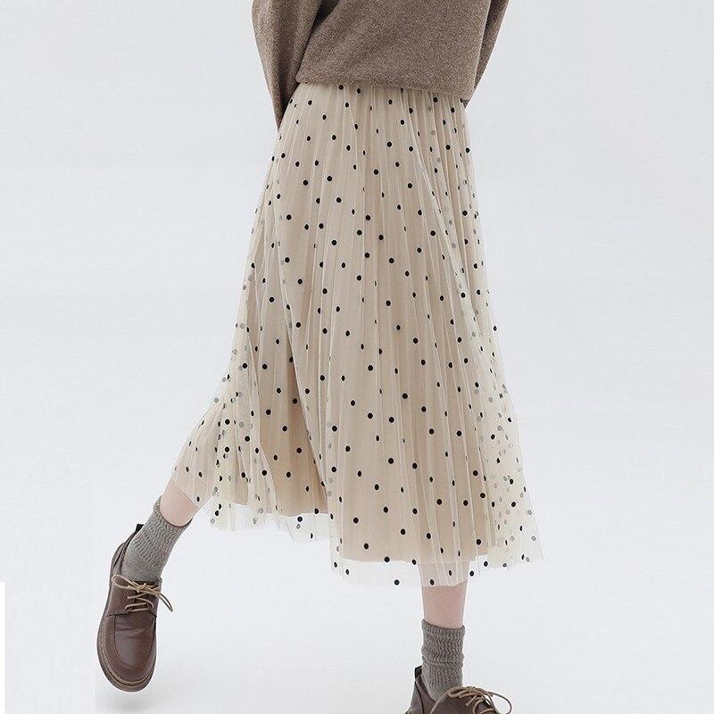 Новые поступления 2019 Зима Весна модные женские туфли Фея Bouffancy Высокая талия Свободные бархатные пряжа плиссированные юбки уличная PL09