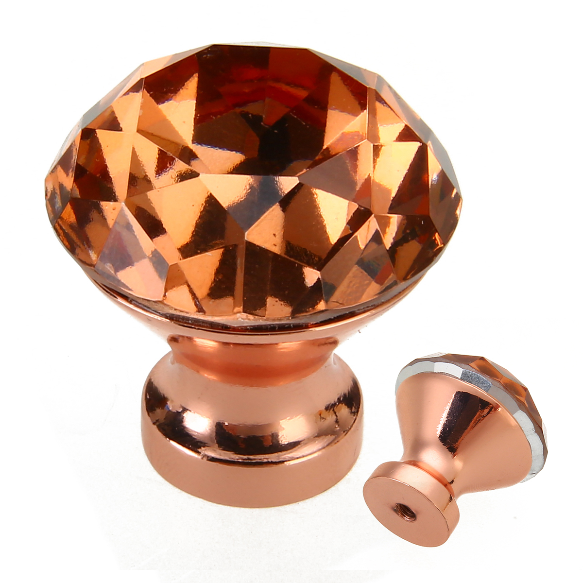1PC 30mm Crystal Furniture Knobs Pull Handle Rose Gold