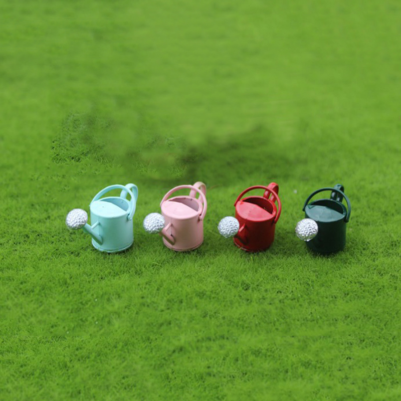 1 Pc Kawaii 1/12 Dollhouse Miniature Accessories Mini Alloy Watering Can Model Simulation Tools Toy for Doll House Decoration