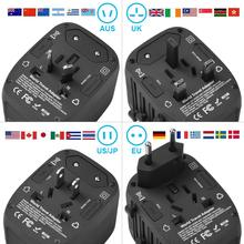 Universal Power Adapter  Wall Charger 2400W   4 USB   3.0 Ports – Travel Light