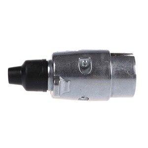 Image 4 - 7 Pin römork tak ağır hizmet tipi yuvarlak Pin 7 kutuplu kablo konnektörü 12V çekme çekme karavan kamyon fiş N tipi elektrik soketi