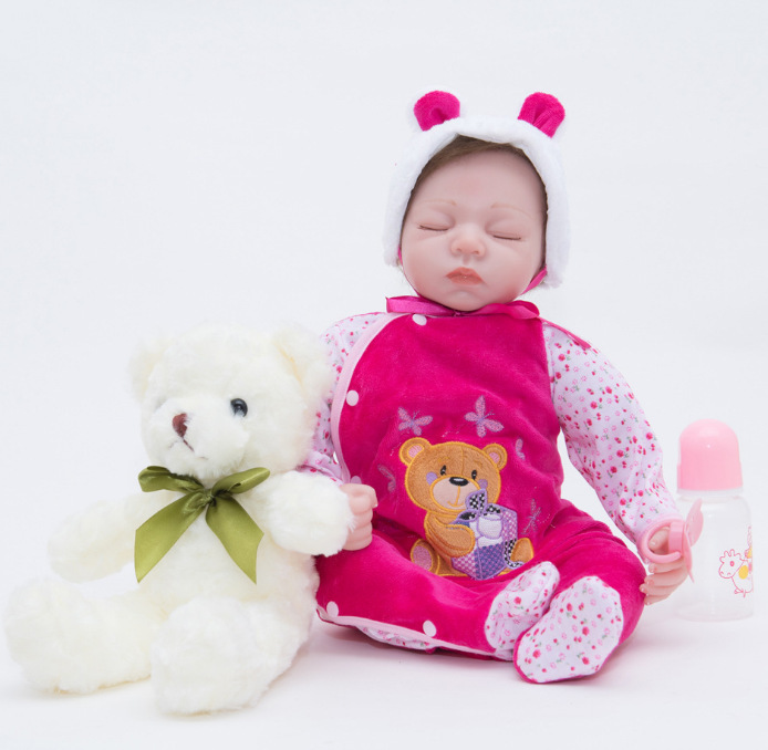 Full Silicone Vinyl Reborn Baby Doll Realistic Girl Babies Dolls 23 Inch 58 cm Lifelike Princess Kids Toy Children Birthday GiftFull Silicone Vinyl Reborn Baby Doll Realistic Girl Babies Dolls 23 Inch 58 cm Lifelike Princess Kids Toy Children Birthday Gift