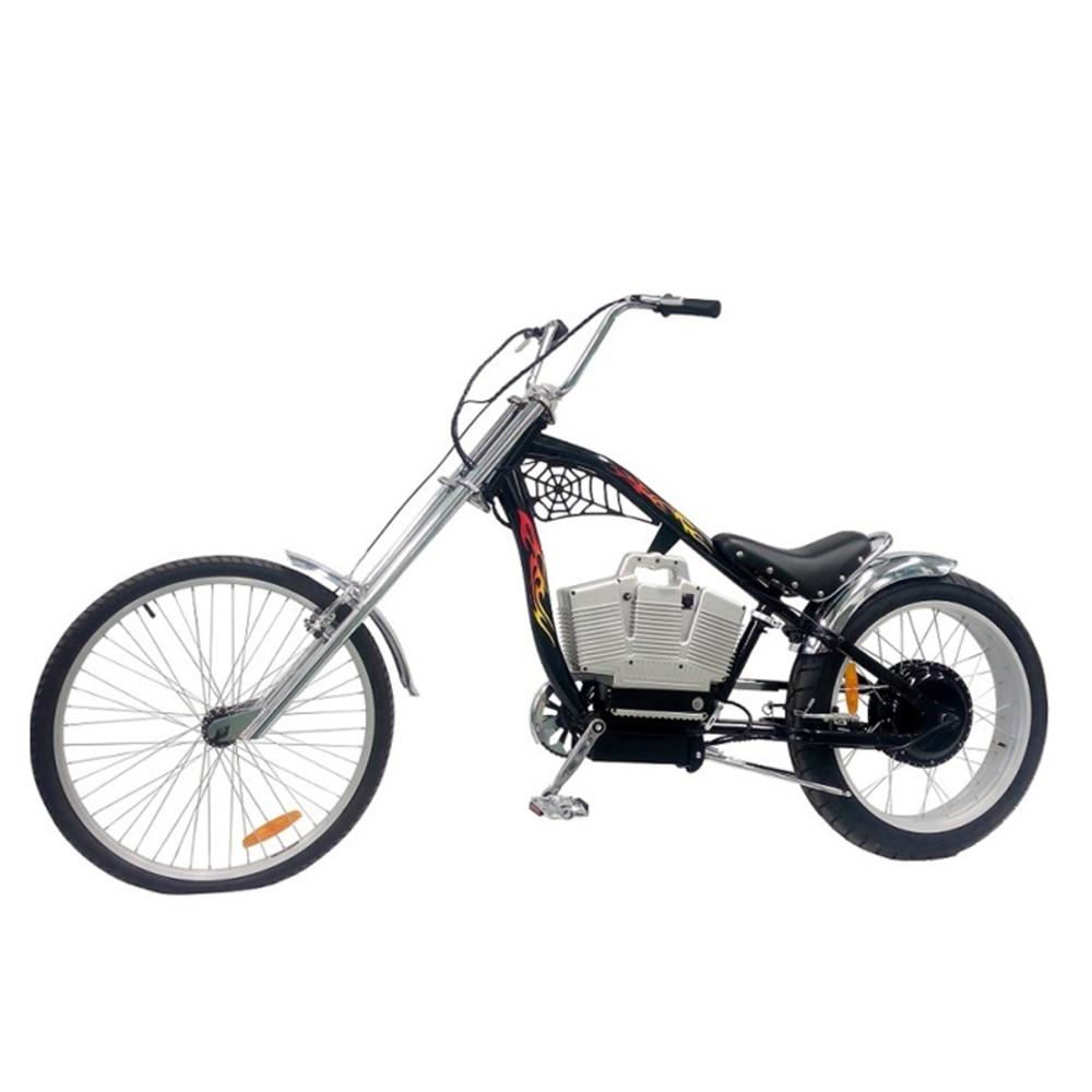 Vélo électrique e-moteur lumière Super Ebike créatif vélo électrique 48 V 500 W + 48 V 10ah batterie au Lithium moto électrique