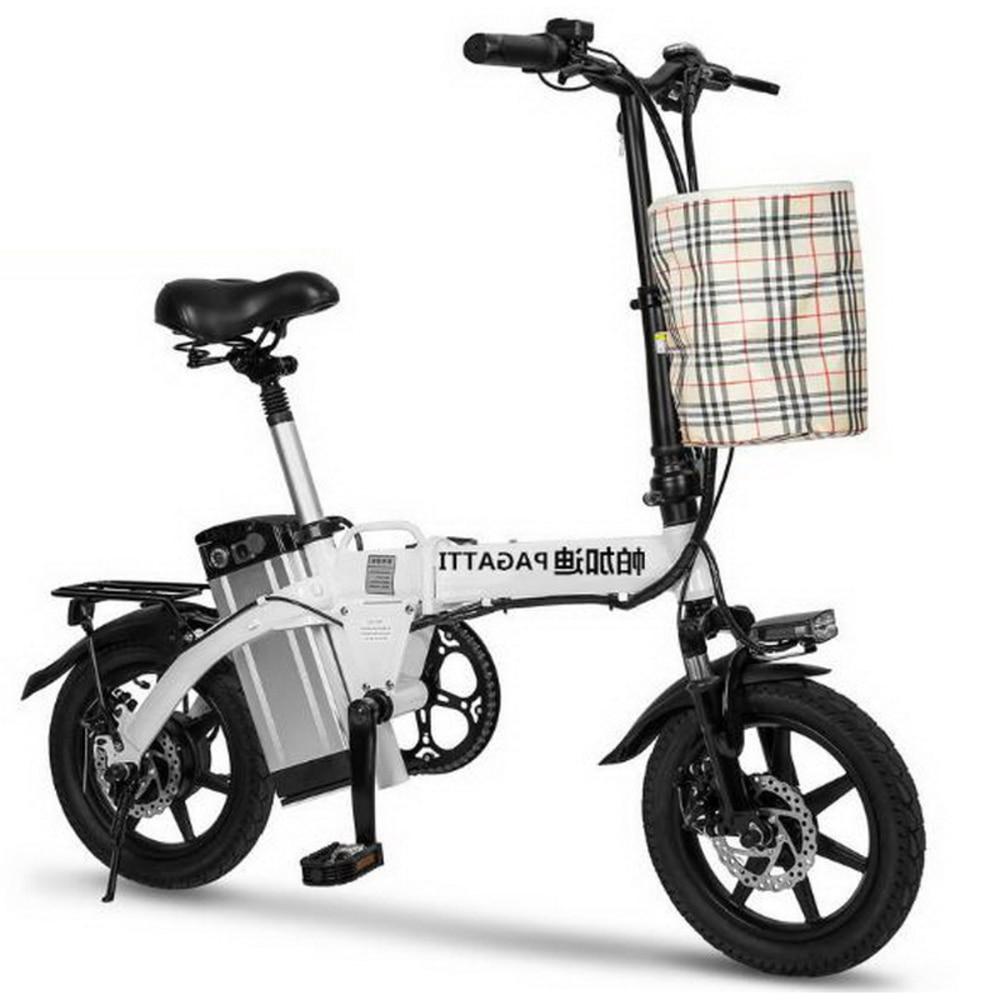 310442/48V Lithium battery men and women folding electric car / long distance running mini miniature folding battery bike