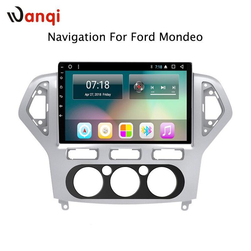 10 pouce plein écran Android 8.1 stéréo de voiture lecteur multimédia pour Ford Mondeo 2007-2013 navigation GPS Intégré bt gps wifi