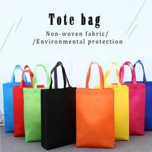 все цены на Reusable Shopping Bag Large Folding Tote Grocery Bag Convenient Storage Handbag Candy Color Eco Shopping Bags Blue онлайн