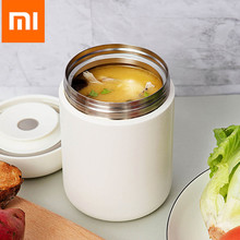 Xiaomi Pinlo 550ml Vacuum Insulated Cooking Thermos Braised Beaker Stainless Steel Portable Lightweight Food Thermos From Youpin(China)