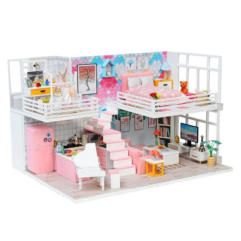 Beau journal bricolage cabine K-040 à la main Villa modèle innovant jouer maison jouets