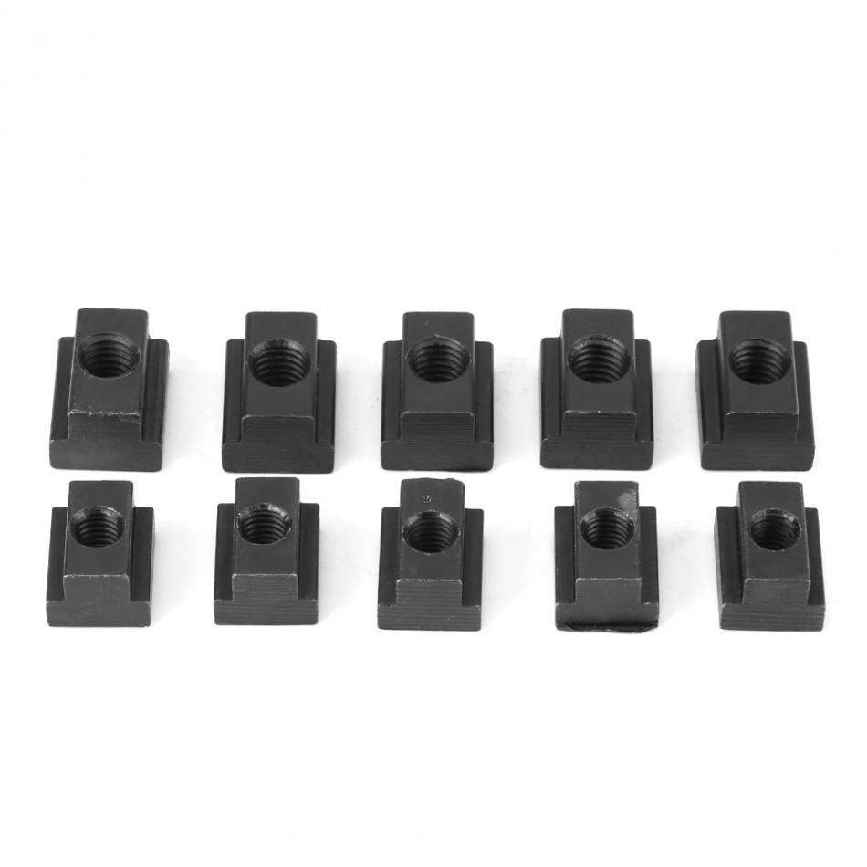 T Slot Nuts M14 Threads Black Oxide Finish Fit Into T-slots In Machine Tool Tables 5 Pack