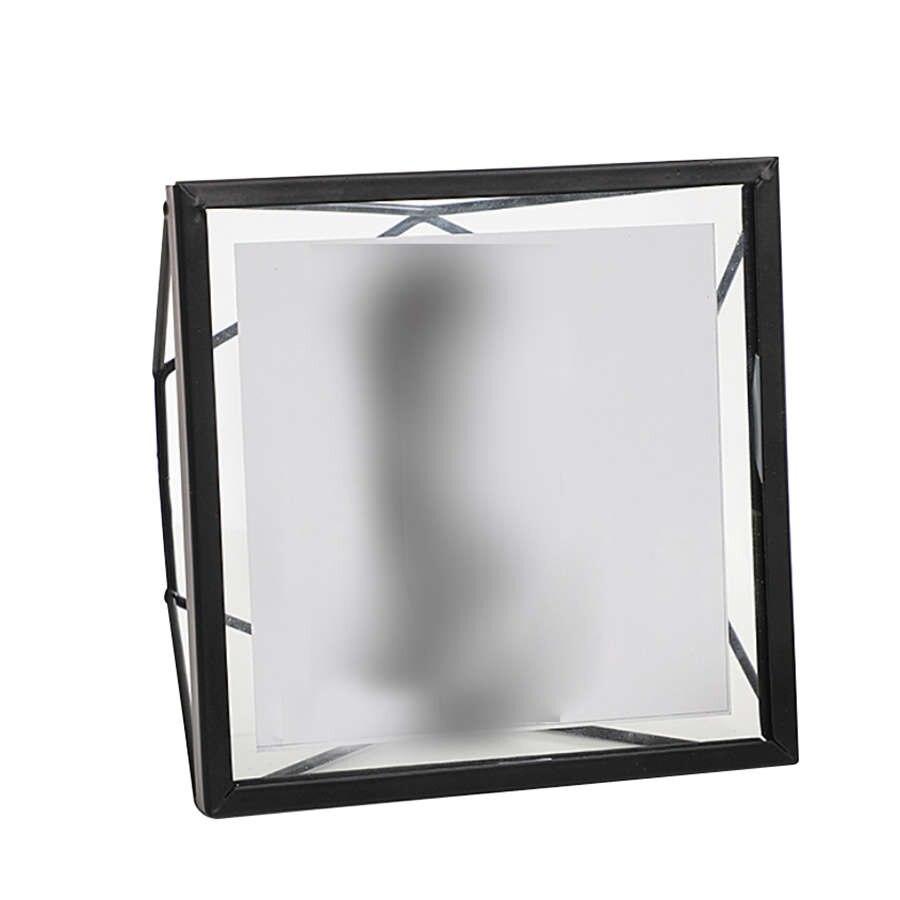 Botique-nordic Geometrische Metalen Glas Fotolijst Creatieve Wanddecoratie Foto Decoratieve Fotolijst 4 Inch Koop One Give One