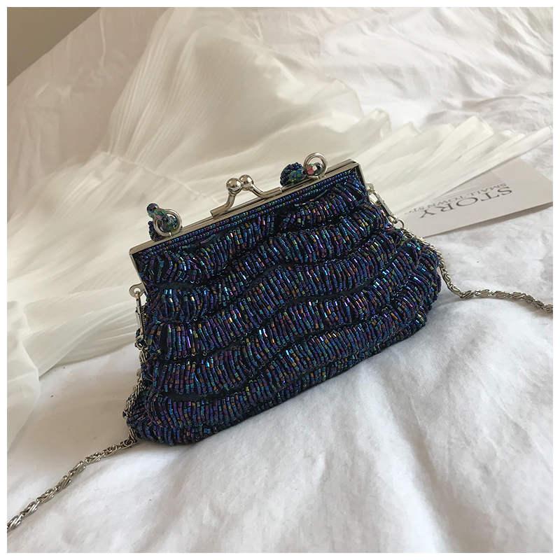 Mode-Flash-Perlen Frauen Schulter Tasche Hohe Qualität PC Lady Umhängetasche Neue Design Geldbörse Feste Farbe Handtaschen Sac Haupt femme