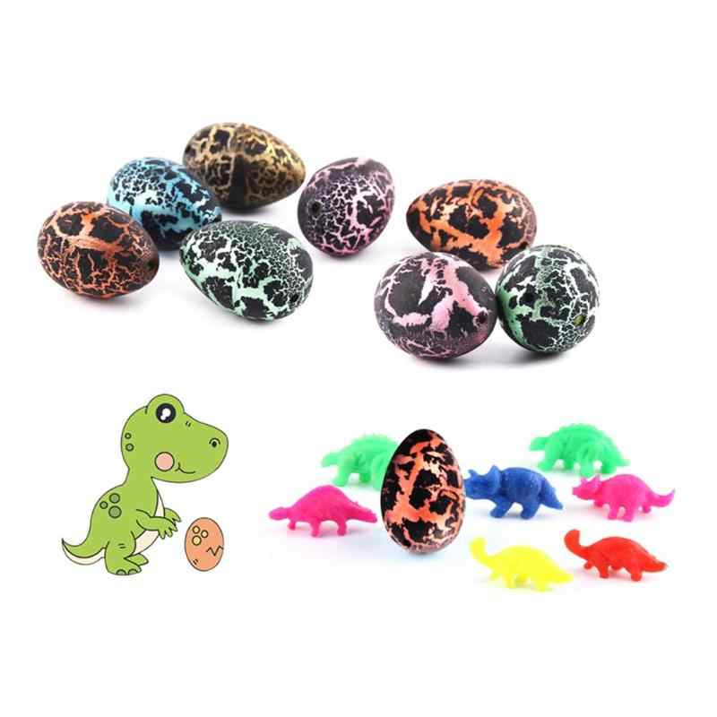 Novelty Children Dinosaur Eggs Toy Action Figure Add Water Cracks Growing Egg Mini Hatching Kids Toys For Children Random Color