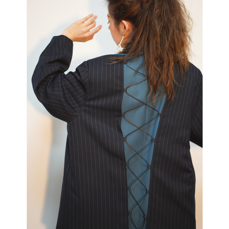 Manches De down Patchwork Collar Lâche Long Veste Nouveau Vêtement Femme Pleine Pour Pièces Deux Wd37205l Mode Turn Blue Ensemble Deat Printemps 2019 tgwqBq7