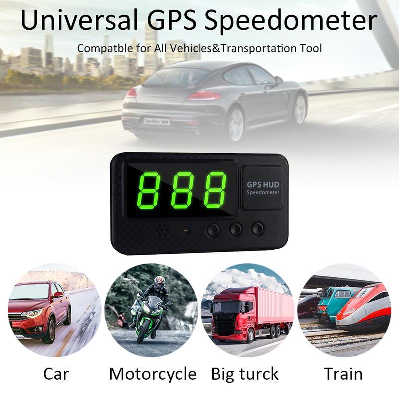 2019 Nova C60S Carro Display Digital GPS Velocímetro Velocidade KM/h MPH Para O Carro Da Bicicleta Da Motocicleta Auto Acessórios