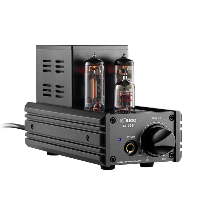 XDUOO TA-03S PCM 32BIT/192 KHZ DSD128 XMOS U8 CS4398 * 2 USB DAC & Tube amplificateur casque