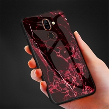Marble Tempered Glass Case for OnePlus 7 Pro Back Ultra Thin Slim Fit Glass Cover Mobile Phone Protector for for Oneplus 7 Pro