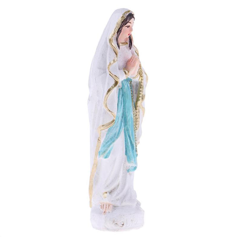Resin Model Virgin Mary Statue Figurine Handicraft Religious Ornament Gift