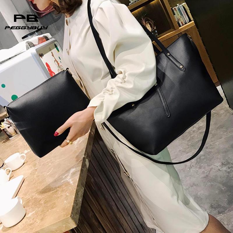 Top-handle Bags Women's Bags Confident 2pcs/set Sling Crossbody Bags For Women Solid Girls Purses And Handbags Clutch Shoulder Bags In Womens Totes Bolsa Feminina