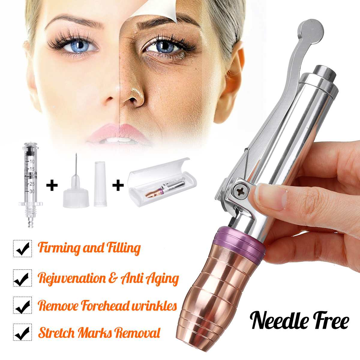 Hyaluronic Injection Pen Massage Atomizer Pen Kit Adjustable Peptide Therapy Pressure Acid Guns Anti Wrinkle Water SyringeHyaluronic Injection Pen Massage Atomizer Pen Kit Adjustable Peptide Therapy Pressure Acid Guns Anti Wrinkle Water Syringe