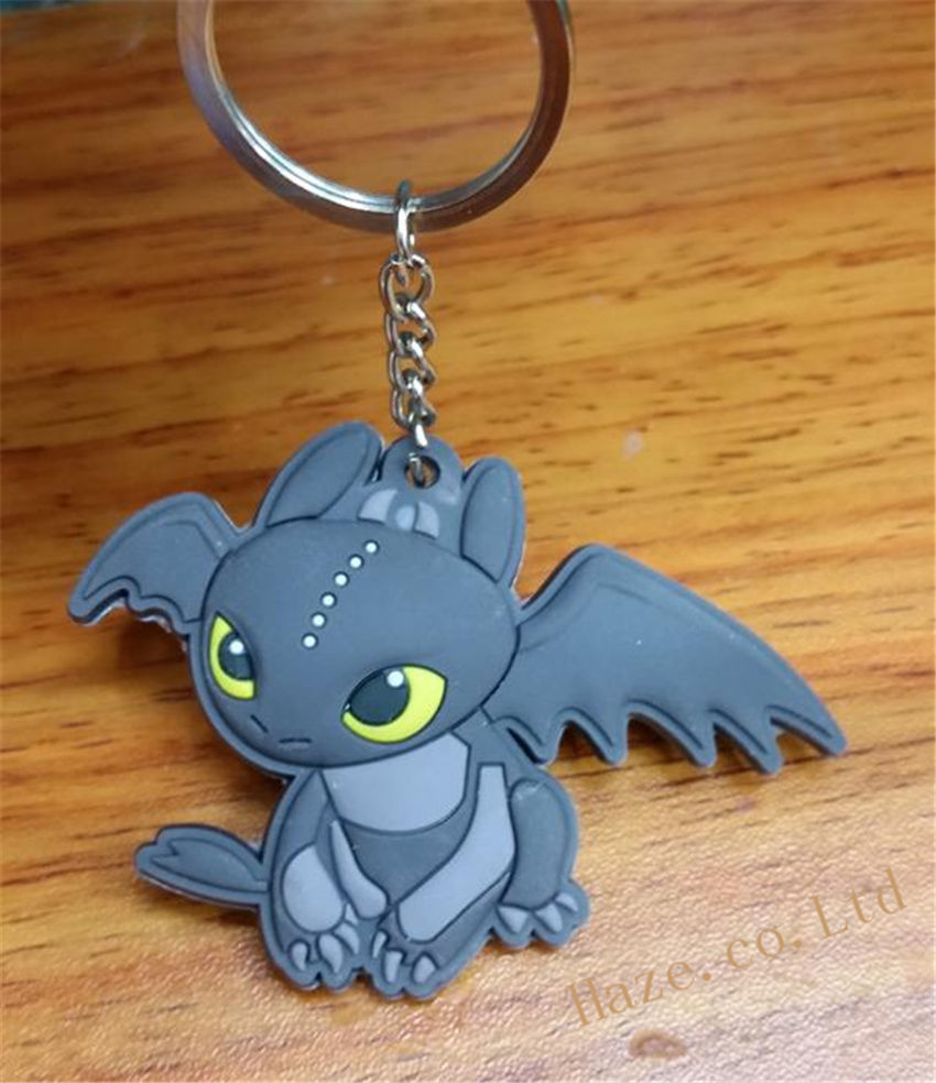 Dreamworks How to Train Your Dragon Night Fury Toothless Figure Keyring fashion cartoon anime movie jewelry how to train your dragon pendant keychain keyrings charms toothless monster dropshipping