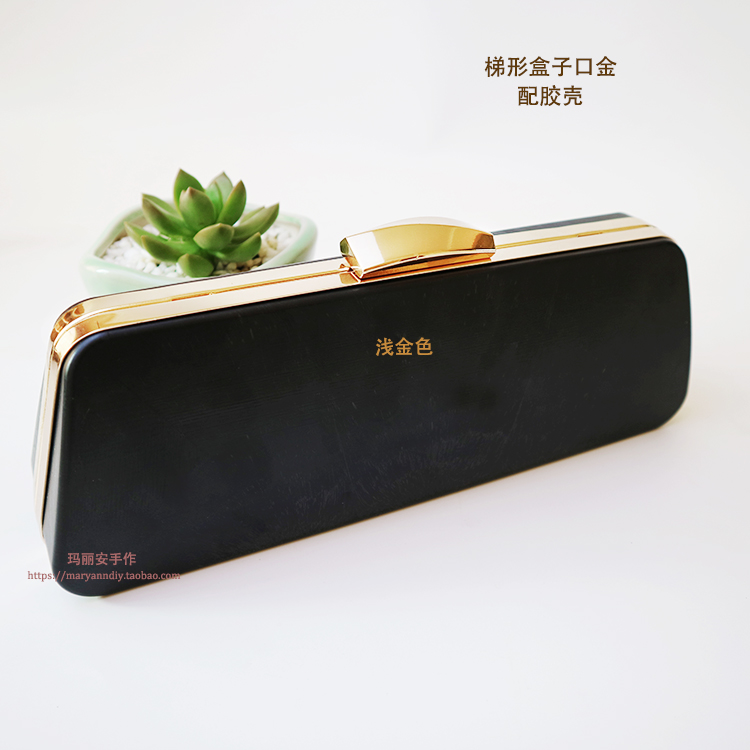 Case Export Of Gold The On Bottom 21.5* Down Bottom 25.5* High 8.5cm Shallow Metal Hardware Frame Box Clutch Purse Frame Obag
