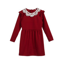 Mother Daughter Matching Lace Red Dresses