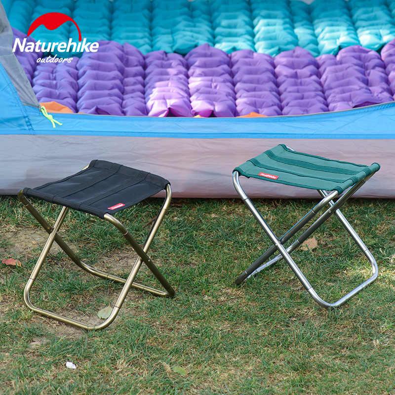 Naturehike في كرسي البراز كرسي قابل للطي في الهواء الطلق سبائك الألومنيوم الصيد كرسي المحمولة المشي في الهواء الطلق مسند الظهر خفيفة الشواء