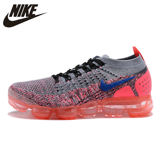 san francisco 12cc3 752ca US $80.3 45% OFF|NIKE AIR VAPORMAX FLYKNIT 2 Running Shoes Sneakers Outdoor  for Women Gray peach red 1802 11 36 39 EUR Size W-in Running Shoes from ...
