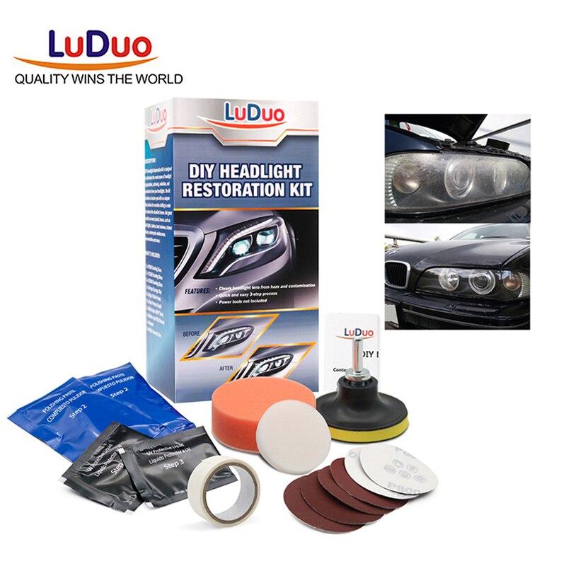 Cloudy Yellowish Lens Headlight Restoration Repair Kit for Chevrolet Classic