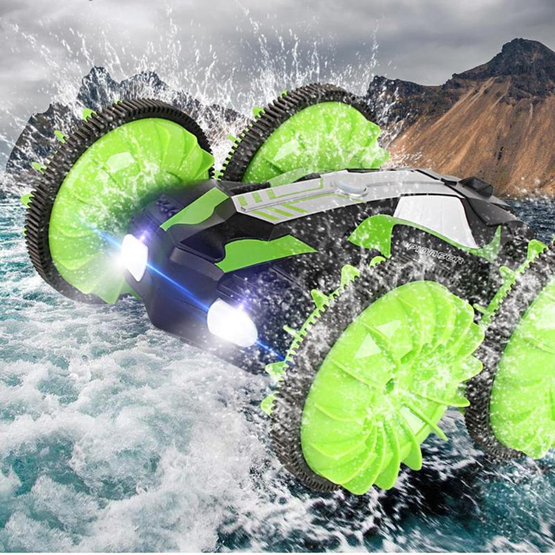 360 Degree Rotation RC Car Driving On Water and Land Crawler Roll Car Toys